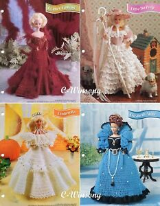 Mardi Gras Gala Barbie Fashion Doll Gowns Crochet PATTERN//INSTRUCTIONS