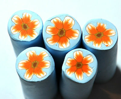 Single Fimo polymer clay millefiori flower flowers cane Handmade nail art