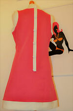 """Mod scooter 1960s vintage style """"Dusty"""" dress by Pop Boutique, hot pink 10-12"""