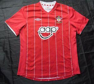 89e872707c3 SOUTHAMPTON FC Saints home jersey by UMBRO 2012-2013 /men/red/ L   eBay