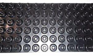 """24-Round Cabinet Black Rubber Case Speaker Feet Bumper, door stop .4x.88""""10x22mm"""