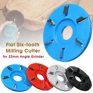 6 Teeth Wood Carving Disc Tool Milling Cutter for 22mm Aperture Angle Grinder