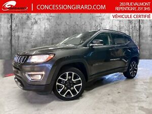 2019 Jeep Compass LIMITED*CUIR*TOIT PANO*NAV*4X4*MAGS 19''*