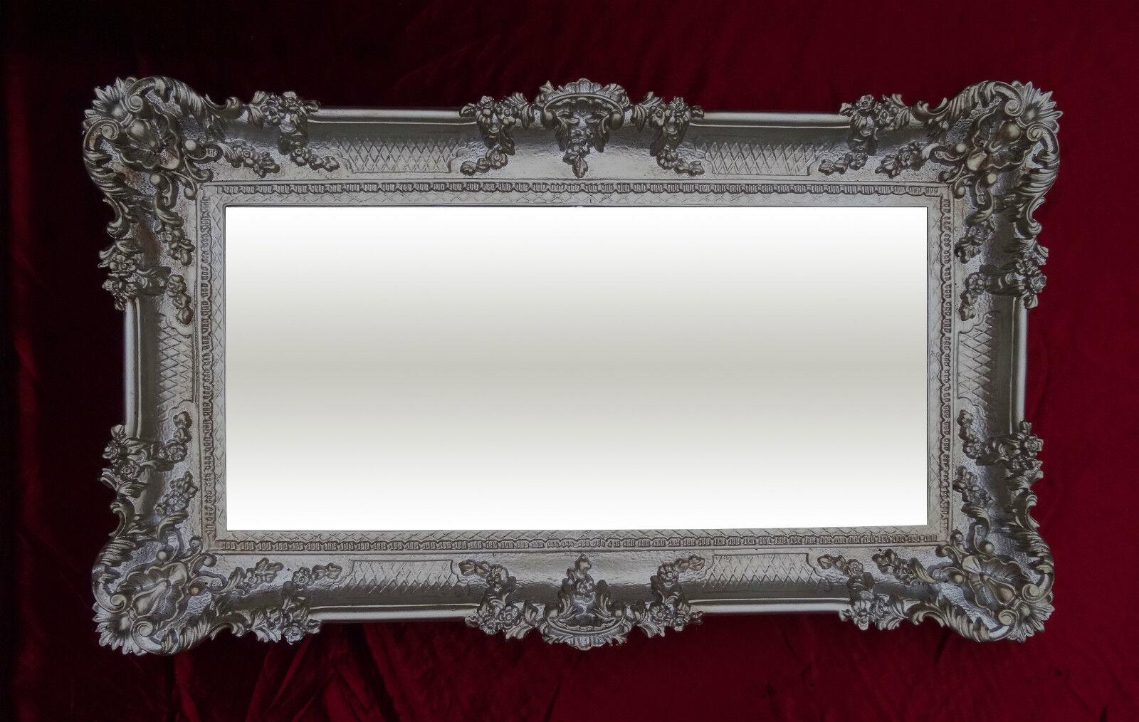 Baroque Miroir Mural luxueux Noir Blanc 96x57 antique miroir rococo luxueux Mural miroir de salle 188120