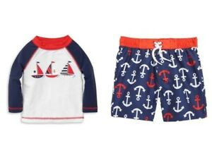 9fda7cff4d LITTLE ME® Baby Boy 18M Nautical 2-Pc. Rashguard Swim Set NWT $50 ...