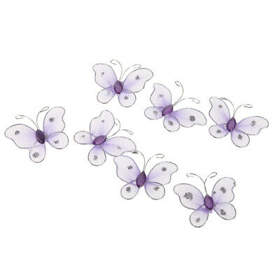 100x cut out felt butterflies crafting scrapbooking material for craft ornaments