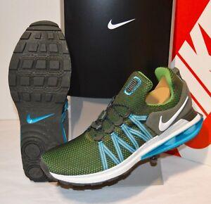 New-150-Nike-Shox-Gravity-Sequoia-White-Green-R4-Running-nz-11-RARE-Mens