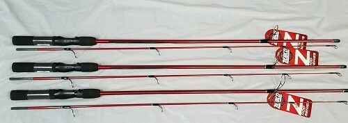 ZEBCO ZSPIN 6'6 , SPINNING ROD, CRAPPIE POLE, SET OF THREE