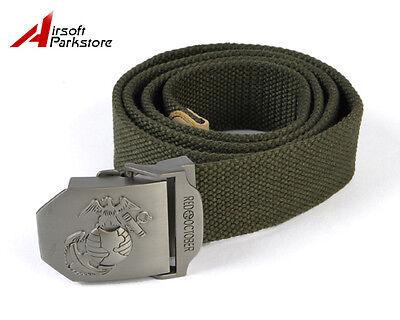 USMC Marine Military Tactical Outdoor Nylon Duty Belt Olive OD for Pants Uniform