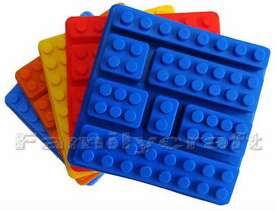 ONE SILICONE BAKING MOULD 7 VARIED BRICK SIZES CHOCOLATE CAKE TOPPER PARTY MOLD