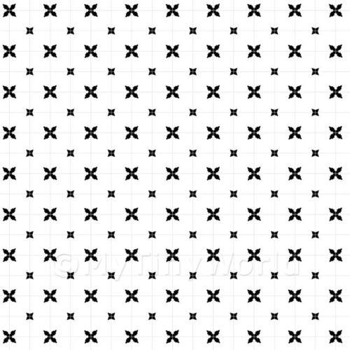 1:24th Negro styalised Star de baldosas de diseño con luz gris lechada