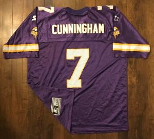 save off a7011 369bf Details about Minnesota Vikings Randall Cunningham Starter NFL Football  Jersey Kids XL 18-20