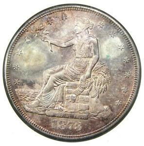 1873-CC Trade Silver Dollar T$1 - ANACS AU Details - Rare Carson City Coin!