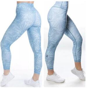 Nwt P Tula High Waist Blue Leaf Leggings 7 8 Size Xxs Ebay Indumentaria deportiva, para fitness y tiempo libre. ebay
