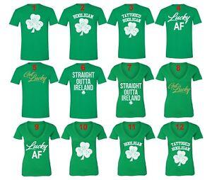 Men/'s St Patrick/'s Day Tattooed Hooligan Shamrock Clover Paddy Irish T-Shirt
