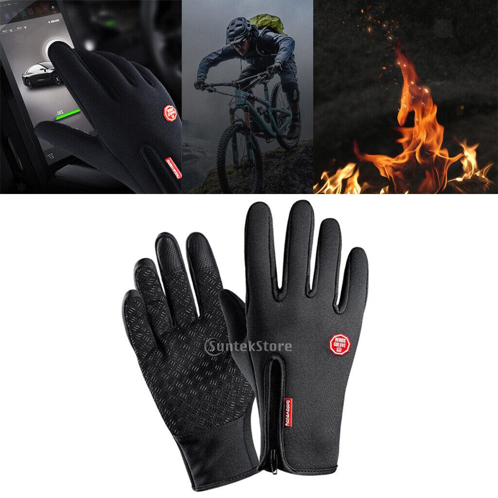 1 Paar Fahrrad Touchscreen Handschuhe Winter warme Rutschfest Jagdhandschuhe