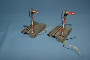 Marklin-443-G-Set-of-2-Arm-Signals-1948-HO-OO