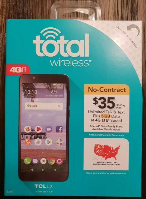 c87557b58fc New Total Wireless TCL LX 4G LTE Prepaid Cell Phone 5.3