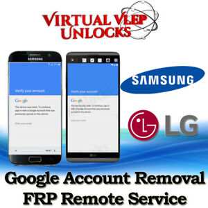 Details about Remote Google Account Bypass Removal, Reset/Unlock FRP for  SAMSUNG & LG