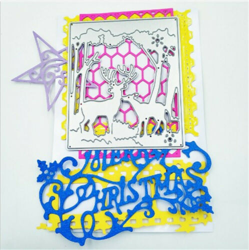 Stanzschablone Elch Baum Oster Geburtstag Weihnachten Fasching Karte Album Deko