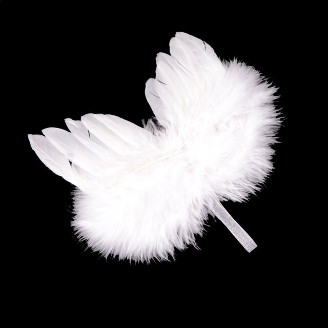 Infant Newborn Boy Girl Fairy Feather Pure white Angel Wings Decor T Lh