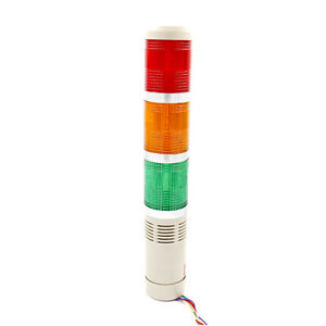 Alarm Warning Lamp Light Industrial LED Signal Tower Buzzer Red Green Yellow 12V