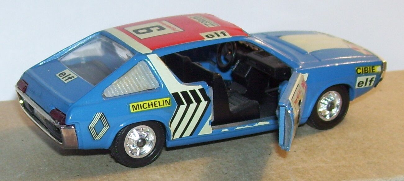 RARE SOLIDO ORIGINAL RENAULT 17 TS N°6 RALLY FROM MgoldCCO blueE 1972 REF 196 1 43