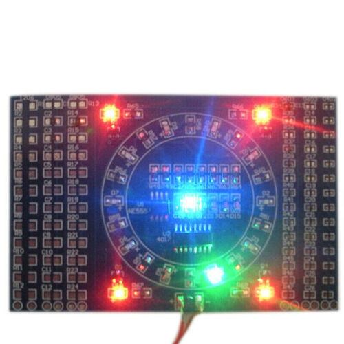 SMD Rotating LED SMD Components Soldering Practice Board Kit DIY ModuHV
