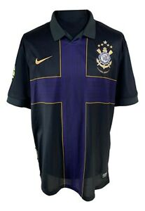 Corinthians-2010-Nike-Centenary-Third-Kit-Jersey-Size-XL-Like-New-Camiseta-I50