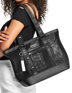NWT-GUESS-STEFANIA-HANDBAG-X-Large-Black-Logo-Tote-Carryall-Shoulder-Bag-GENUINE