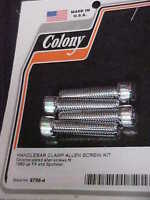 Harley 1982- 2003 Fx, Fxr, Fl Handle Bar Risers,new Chrome Top Clamp Bolt Kit