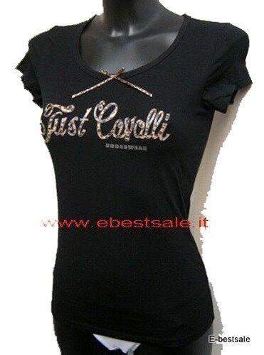Just Cavalli T-shirt 100% Originale nera Tag. S M L XL