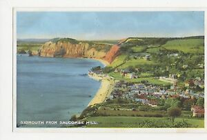 Sidmouth-from-Salcombe-Hill-Devon-Dennis-Postcard-A905
