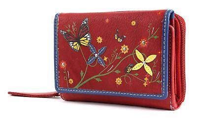 Costruttivo Bruno Banani Butterfly Wallet With Flap Portafoglio Red Rosso Giallo Nuovo-mostra Il Titolo Originale