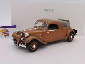 Norev-181441-Citroen-Traction-Avant-Coupe-Baujahr-1939-in-034-braun-034-1-18-NEU