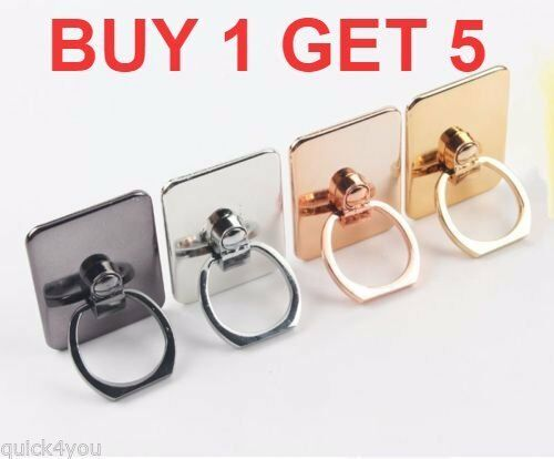 5 X Q4U® Luxurious Finger Grip Phone Ring Holder for iPhone 7/7s, 7 Plus/7s