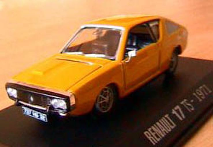 RENAULT 17 TS SPORT RACE yellow 1971 NOREV 1 43 YELLOW R17 M6 INTERACTIONS yellow
