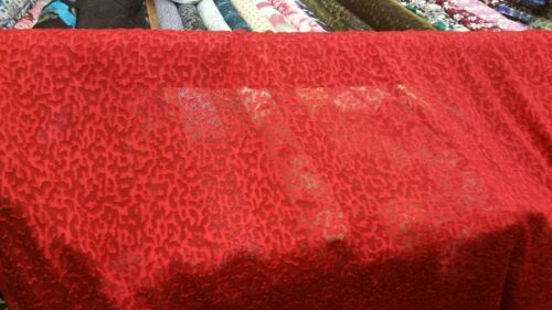 """Nuevo Top Qualty suave chifón ** brocado rojo de 58/"""" de ancho de tela del uno mismo Diseño"""