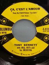 "TONY BENNETT 45 RPM ""Ca, C'est L'Amour"" ""I Never Felt More Like Falling in Love"""