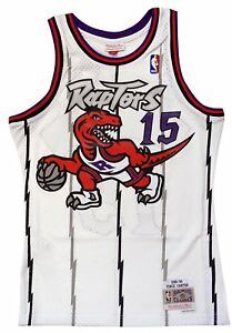 best website e1b5d 9c1c2 Details about Toronto Raptors Vince Carter Mitchell and Ness White Swingman  Jersey L