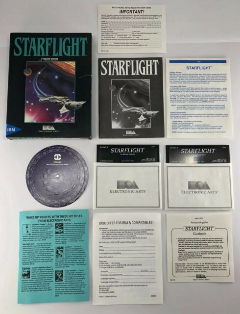 RARE ORIGINAL Starflight (IBM/Tandy/PC, 1986) 100% COMPLETE IN BIG BOX