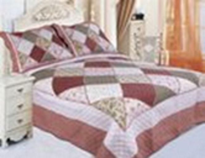 Cotton Bedsheet 3 PIeces Premium Patchwork Queen King Size Coverlet Bedspread