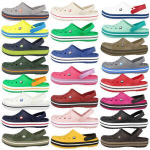 Crocs-Crocband-clog-zapatos-sandalia-Zapatos-para-bano-Clogs-unisex-11016-colores-muchos