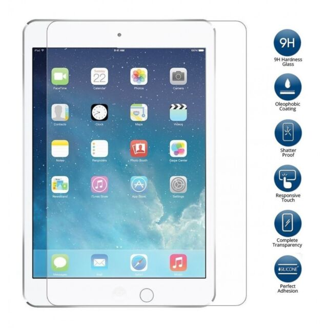 Bubble Free  Full Clear Tempered Glass  Protector For Apple iPad Air 2/iPad Pro