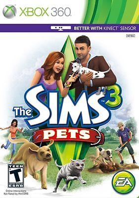 The Sims 3: Pets [Xbox 360, NTSC, Real Life Simulator Cute Animals] NEW  696545040733 | eBay