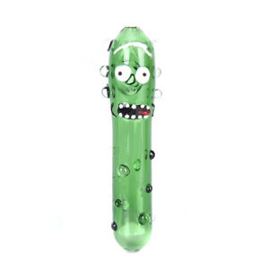 1Pc-Funny-Pickle-Rick-Glass-Pipe-Glass-Bong-Smoking-Pipe-Glass-Bowl-Decor-EBAU
