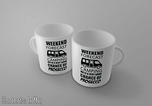 Weekend-Forecast-Camping-With-A-Very-Chance-Of-Prosecco-Tea-Coffee-Cup-Mug