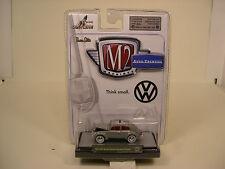 M2 MACHINES 1:64 SCALE DIECAST METAL EUROPEAN VERSION GRAY 1967 VW BEETLE