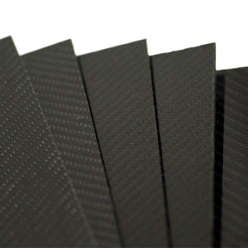 PLANCHA DE FIBRA DE CARBONO 2,5mm TWILL 2/2 500x400mm Gloss