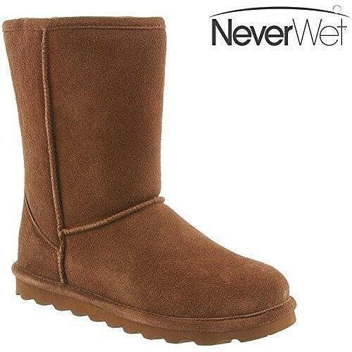 NEW   Bearpaw  Elle  Short  HIckory  Neverwet  Suede  8  Pull  On bota      10